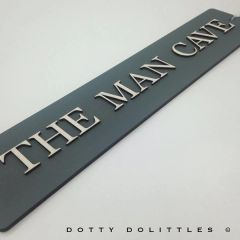 'The Man Cave' Wooden Sign - Ready to Post
