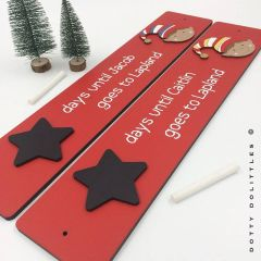 'Days until Lapland' Wooden Sign
