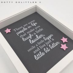 'Laugh a Little Louder' Quote Wooden Frame