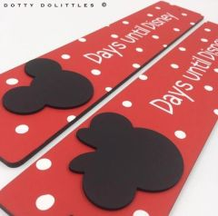 'Days until Disney' Wooden Sign