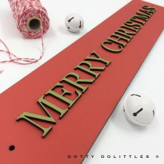 'Merry Christmas' Wooden Sign