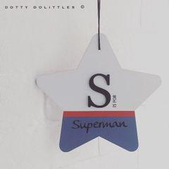 Superman Large Wooden Star