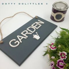 'Garden' Wooden Plaque