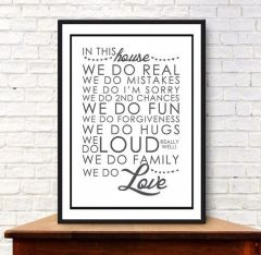 'In this house ...' Print