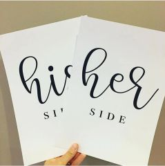 'His Side, Her Side' Prints