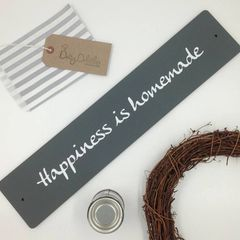 'Happiness is Homemade' Wooden Sign