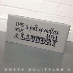 Love & Laundry Box
