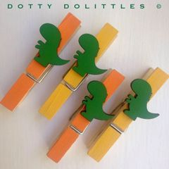 Dinosaur Magnetic Pegs - Ready to Post