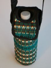 H2BN Ancient Ones Water Bottle Carrier Green Multicolor Thin Rope String
