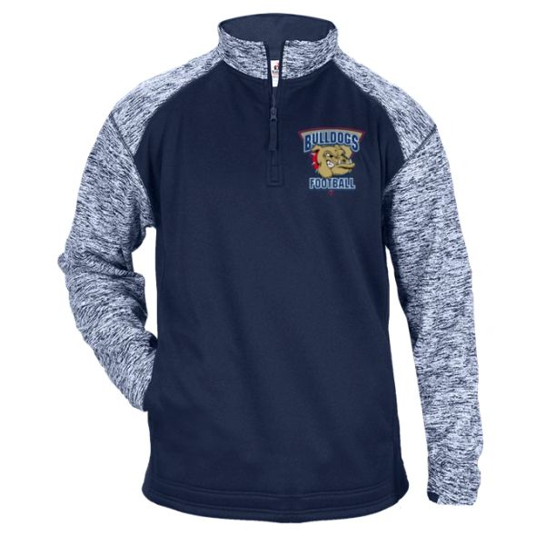 SANDWICH BULLDOGS BLENDED SPORT 1/4 ZIP FLEECE