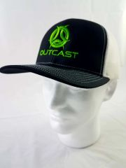 Outcast Trucker Black/White/Neon Green