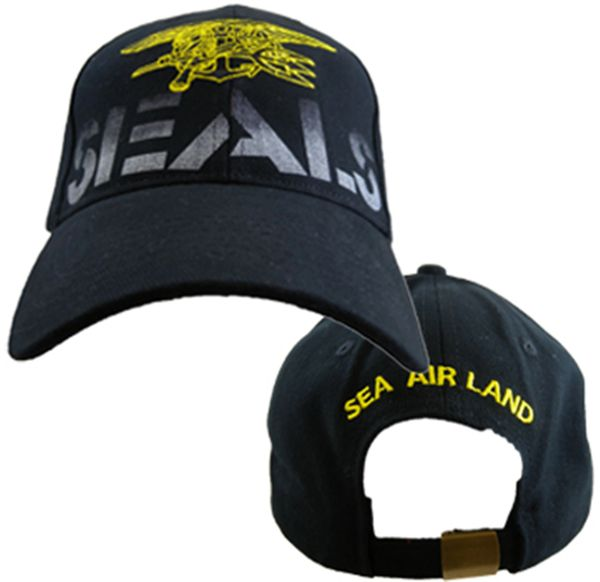 760a49e2af3 US States Navy Seals Hat Air Land Sea Mens Ball Cap