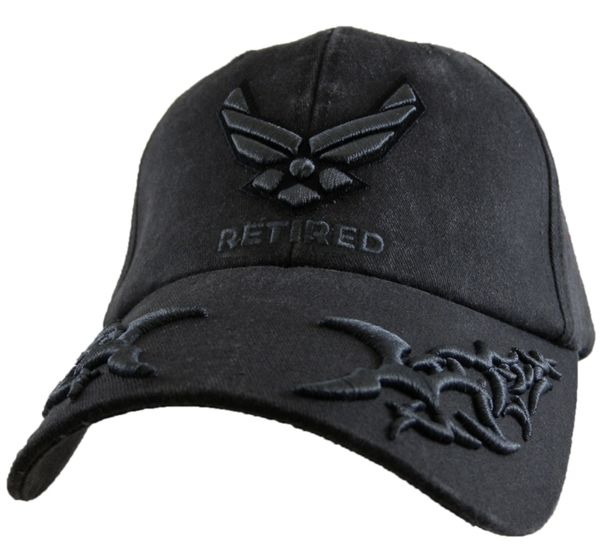 a0230743121 US Air Force Hat Tribal EGGS Retired Mens Ball Cap