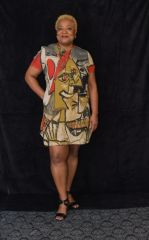Abstract Pattern Baggy Dress