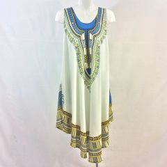Sleeveless African Print Dashiki Dress