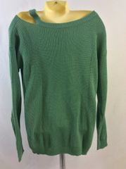 Split Shoulder, Boat Neck Sweater