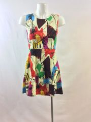 Abstract Confetti Sleeveless Dress