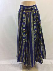 African Print Maxi Skirt with Sash
