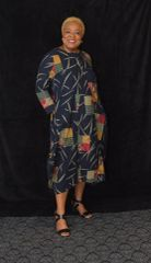 Afrocentic Print Balloon Dress
