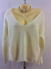 V-Scoop Neck Long Sleeve Sweater