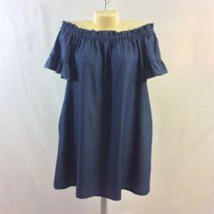 Ruffled Off-Shoulder Short Sleeve Mini Dress