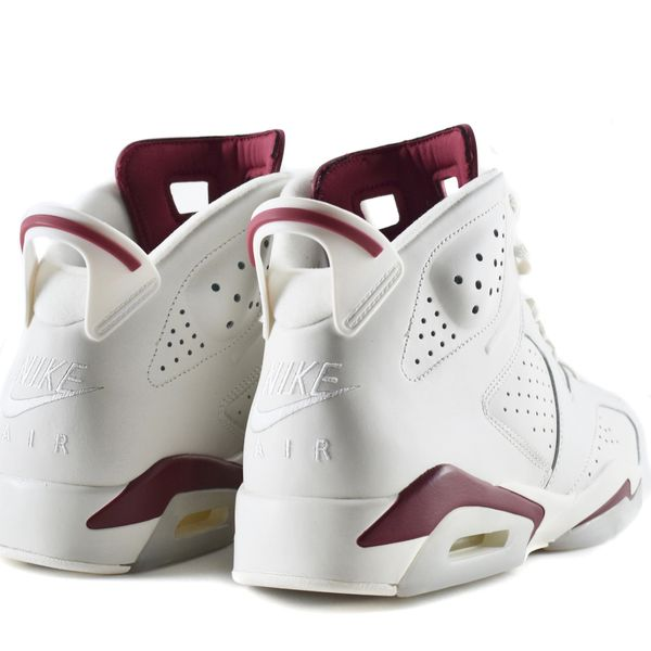 buy online ac604 6d473 Nike Air Jordan VI Off White/Maroon NEW Size 12