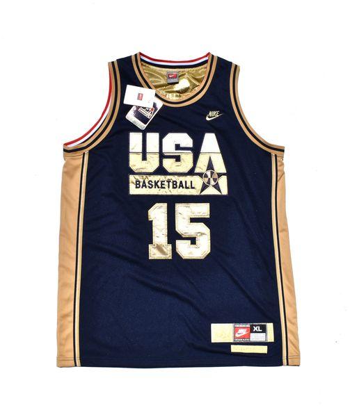 088157a8f88c Nike Authentic Magic Johnson Gold USA Dream Team Jersey New