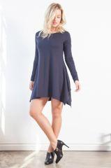 LA Relaxed Sophie Shark Bite Dress (Ink)