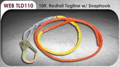 Tagline - Redtail Coated no tangle with snap hook 10 feet