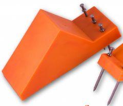 """8"""" Orange Pipe Chocks (40 pack) - FREE US SHIPPING"""