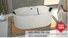 Bath Tub - SERNIS TUB + AIR JETS +2 Pillow