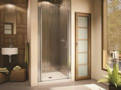 "SEVILLA 33"" to 35"" WIDE, 70""- HIGH SEMI-FRAMELESS IN-LINE PIVOT DOOR"
