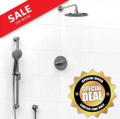 "RIOBEL KIT#1623 Thermostatic shower 10"" Rain Head with with hand shower"