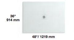 Quadro SHOWER BASE OFF WHITE 48X36