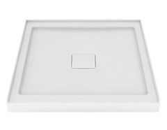 "36"" x 36"" Square shower base with hidden central drain"