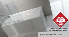 "Bath Tub - Sherlic Quad 2 sided 60""X32"", COMES IN 4 MODELS"