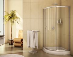 Corner Shower Curved - Fleurco Capri Round 3+ Base