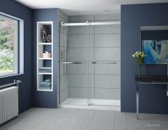 Fleurco Gemini Plus Frameless By-Pass Shower Door NPT160