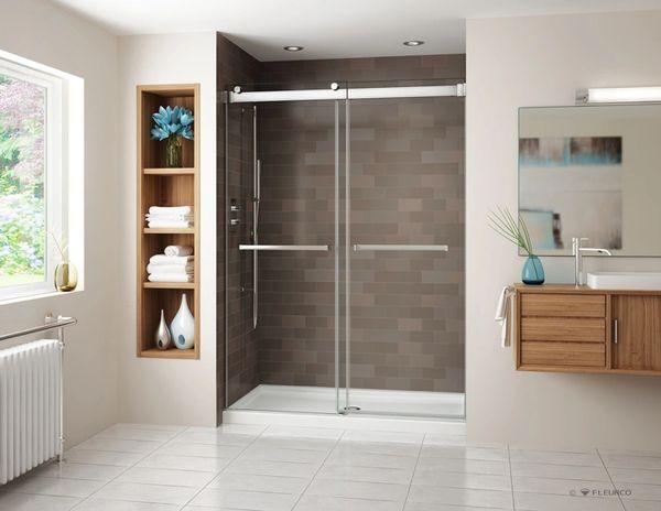 Fleurco Gemini Frameless Bypass Shower Door Cornerstone Bath More