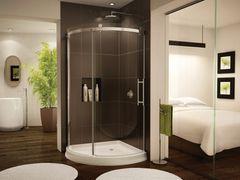 Corner Shower Curved - Fleurco Novara Arc