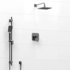 Riobel Equinox - Type T/P 1⁄2'' coaxial 2-way system with hand shower and shower head KIT#323EQ
