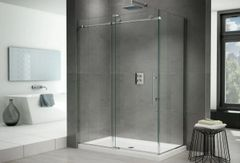 "Fleurco K2 Frameless 48"" In-Line Shower Door with Right Side Return K2P57"