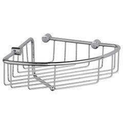 Wire Corner Basket With Wash Cloth Post