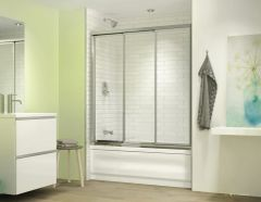 "Fleurco EGT60 Banyo Lombardi 3 Triple Bypass 60"" In-Line Sliding Tub Doors"