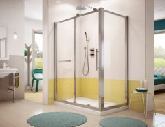 Corner Shower - Fleurco Sorrento with Return Panel