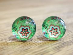 Art Glass No. 41 - stud earrings