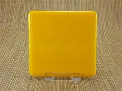 Yellow glass coaster