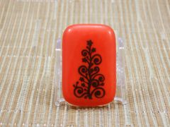 Christmas tree light red glass fridge magnet