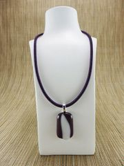 Purple and white glass pendant