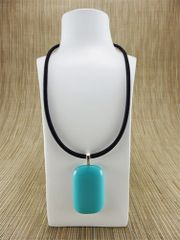 Blue (light) rectangular glass pendant